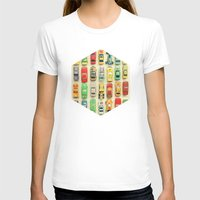 retro T-shirts featuring Car Park by Cassia Beck