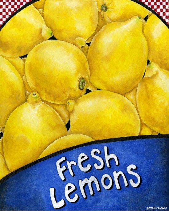 Fresh Lemons Art Print