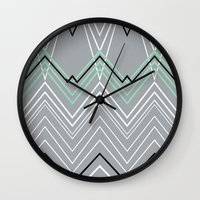 Mint Grey Chevy Wall Clock