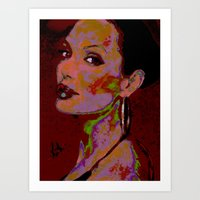 YOURS TRULY, ANGELINA By Cd KIRVEN Art Print