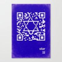 QR star Canvas Print