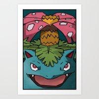 Dark Venusaur Pokemon Po… Art Print