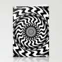 Black and White 4 Stationery Cards
