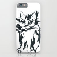 iPhone & iPod Case featuring a threatening cat by yukumi