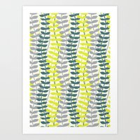 Seagrass Pattern - Teal … Art Print