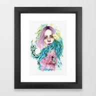 Framed Art Print featuring Garden  by Veronika Weroni Vajd…