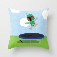 SW Kids - Boba Fett Jump Throw Pillow