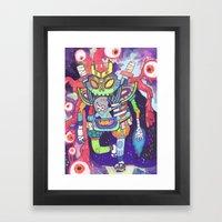 Kuri and the Kaiju Framed Art Print