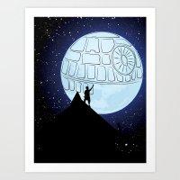 That's No Moon! Art Print
