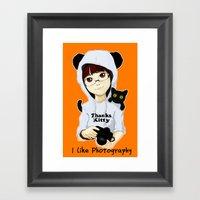 Thanks Kitty - I Like Ph… Framed Art Print