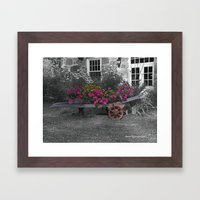 Cart of Flowers Framed Art Print