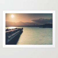 Summertime Feeling (Dock Sunset) Art Print