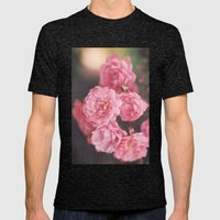 Roses Mens Fitted Tee Tri-Black SMALL