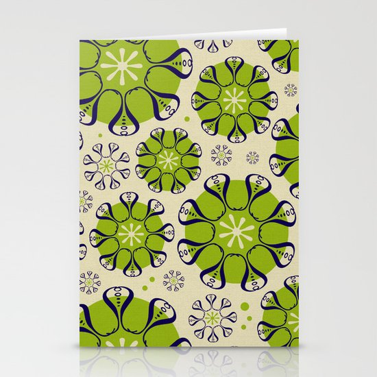 Playful Flower Pattern Stationery Card