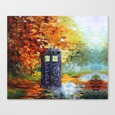 Starry Autumn Blue Phone… Canvas Print