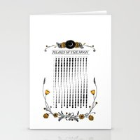 2015 Illustrated Phases of the Moon Calendar Stationery Cards