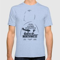 North by Northwest - Hitchcock Movie Poster Mens Fitted Tee Athletic Blue SMALL