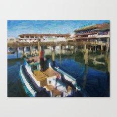 Fishermans Wharf - San Francisco Print No. 134 Canvas Print