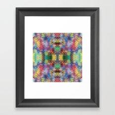 Acid Rain Detail Pixel Framed Art Print