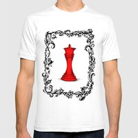 Red Queen Mens Fitted Tee White SMALL