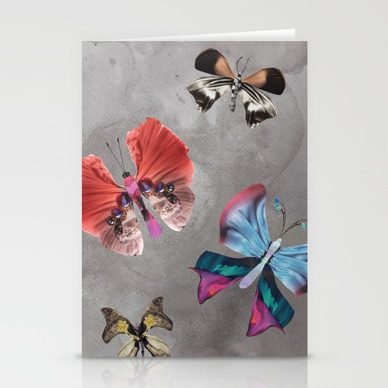 Floating Butterflies Stationery Card