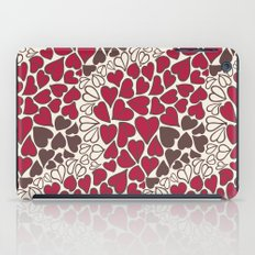 HEARTS  ~  CRIMSON, CLEAR, BROWN iPad Case