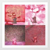 4 Kitties Art Print