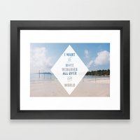 I want to make memories with you Framed Art Print