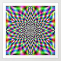 Neon Psychedelic Art Print