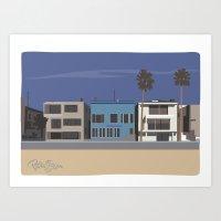 Strand homes Art Print