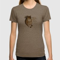 Irreverent Squirrel Womens Fitted Tee Tri-Coffee SMALL