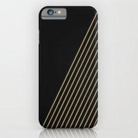 Tan & Black Stripes  iPhone 6 Slim Case