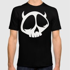 Devil Skull Character Mens Fitted Tee Black SMALL