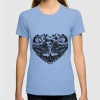 Love Birds  Womens Fitted Tee Athletic Blue SMALL