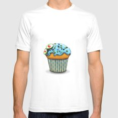 Muffin White SMALL Mens Fitted Tee