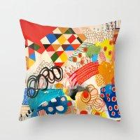 Wallpaper And Diamonds P… Throw Pillow