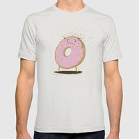 Itchy Donut Mens Fitted Tee Silver SMALL