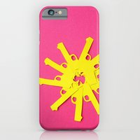 Gun Flower On Pink iPhone 6 Slim Case