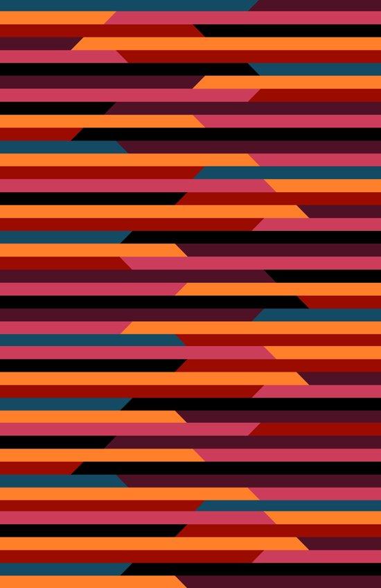 Geometric stripes Canvas Print