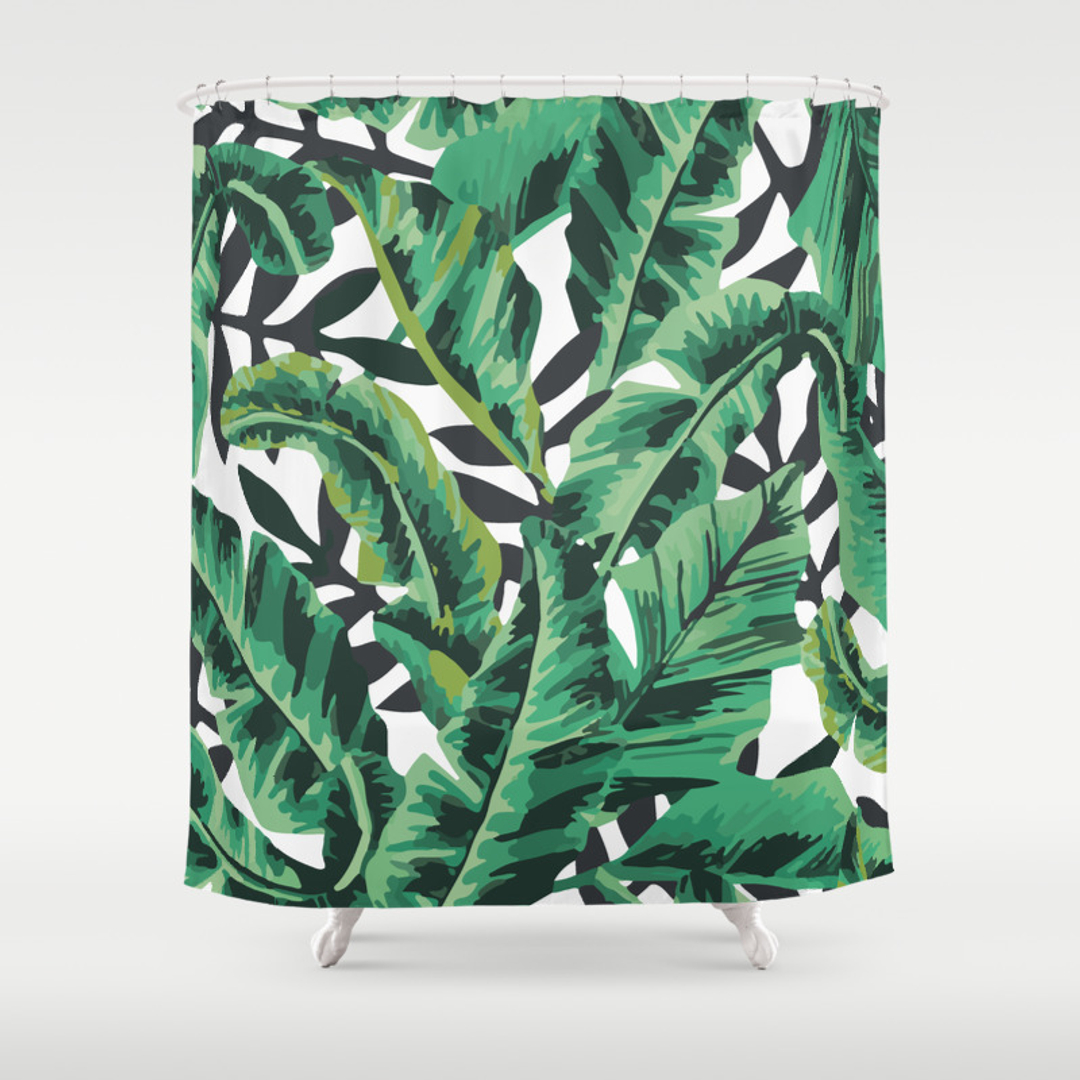 popular shower curtains in graphic design society6