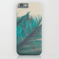 Turquoise Feather Abstra… iPhone 6 Slim Case