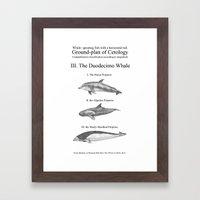 III. The Duodecimo Whale Framed Art Print