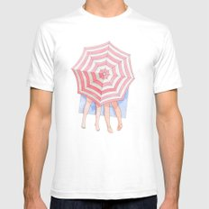 Costa del Amor Mens Fitted Tee White SMALL