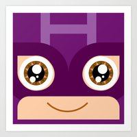 Adorable Hawkeye Art Print