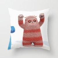Yeti Attack Throw Pillow