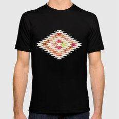 FLORAL EXPLOSION Black Mens Fitted Tee SMALL