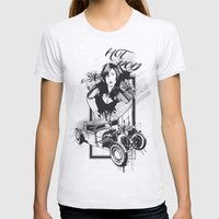 Hot Rot Womens Fitted Tee Ash Grey SMALL