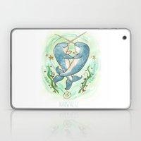 Narwaltz - Narwhal Valentine Laptop & iPad Skin