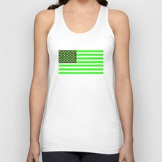 united states america green flag ecology Unisex Tank Top