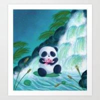 Panda Lilly Art Print